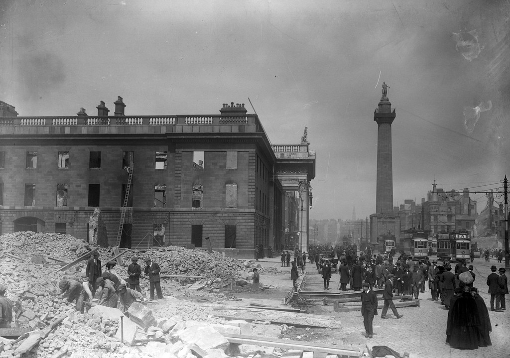 The Shell of the GPO on O Connell Street after the Easter Rising