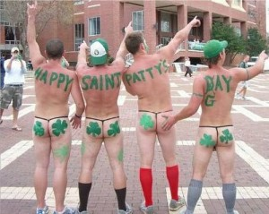 St Pattys Day blokes arses