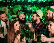 St Patricks Day People Drinking